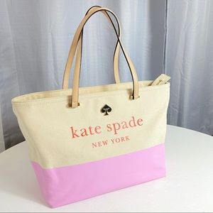 Kate Spade Francis Street Lott Tote Pink Red Purse